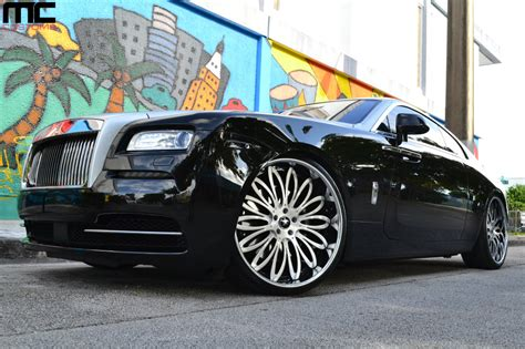 roll royce wraith on rims rolls royce wraith on 24 inch lexani forged wheels rides