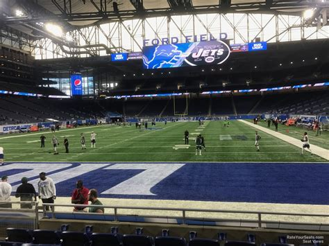 ford field section 118 ford field section 118 detroit lions rateyourseats com
