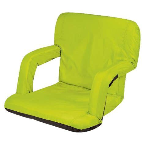 stadium recliner seats picnic time ventura portable stadium seat lime 10 0 lb