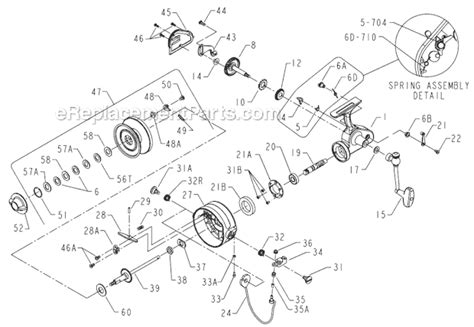 penn reel diagrams penn 704z parts list and diagram ereplacementparts