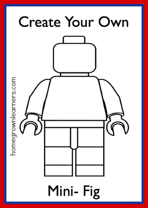 design your own home page lego minifig printable homegrown learners