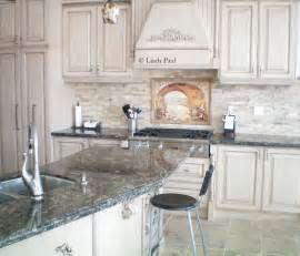 Stone Kitchen Backsplash Stacked Stone Backsplash