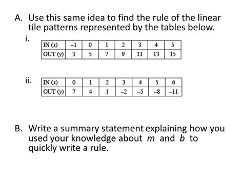 pattern rule equation in lessons and 4 1 3 you investigated connections between