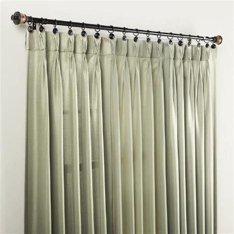 Tree Shop Curtains - taupe pinch pleat curtain panel tree shops