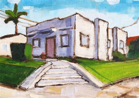 san diego house painters art deco house in hillcrest san diego painting original painting by artist kevin