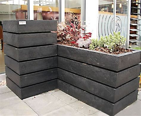 Plastic Planters Uk by Agora Recycled Plastic Planter Goplastic Esi External