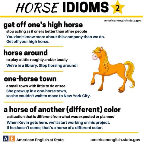 exle of idiom idioms using the word 2 with their