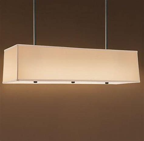 Restoration Hardware Island Lighting Restoration Hardware Rectangular Shade Pendant Look 4 Less