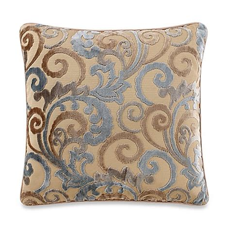 blue throw pillows for bed lenora square throw pillow in blue bed bath beyond