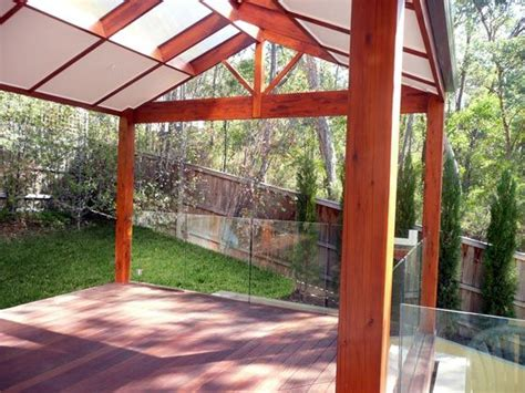 pitched pergola with half enclosed roof decks pergola