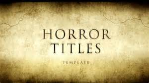 horror movie titles after effects template youtube