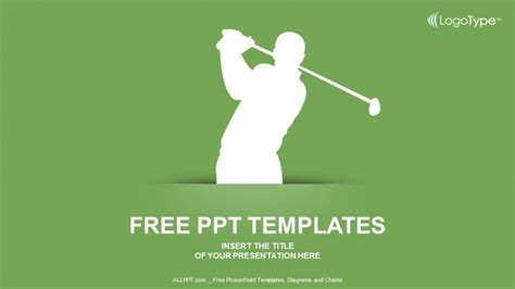 Silhouette Of Golf Powerpoint Templates Golf Powerpoint Template