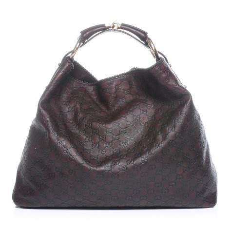 Gucci Chain Large Hobo by Gucci Guccissima Large Horsebit Chain Hobo Chocolate Brown