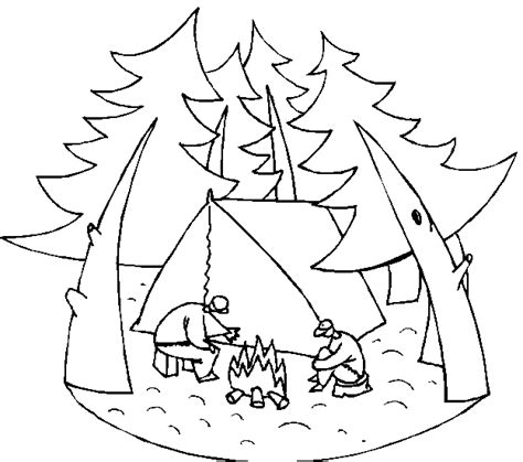 coloring pages free printable coloring pages camping pictures camping coloring pages