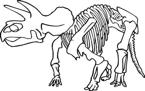 printable dinosaur skeleton template realistic dinosaur bones coloring pages printable