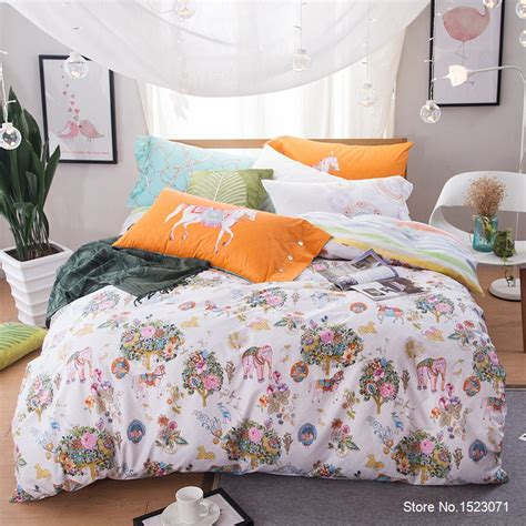 bright floral bedding tutubird pastoral elephant zebra ocean bright color floral