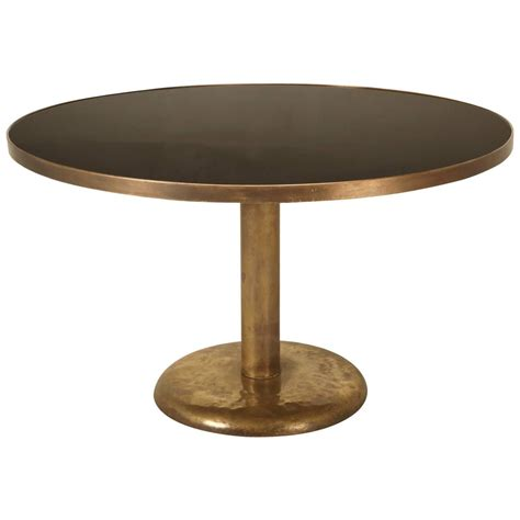 brass dining table brass and black glass dining table for sale at 1stdibs
