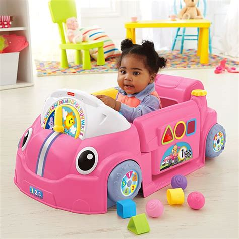 top gifts for baby boys 6mths 2018 laugh learn crawl around car pink