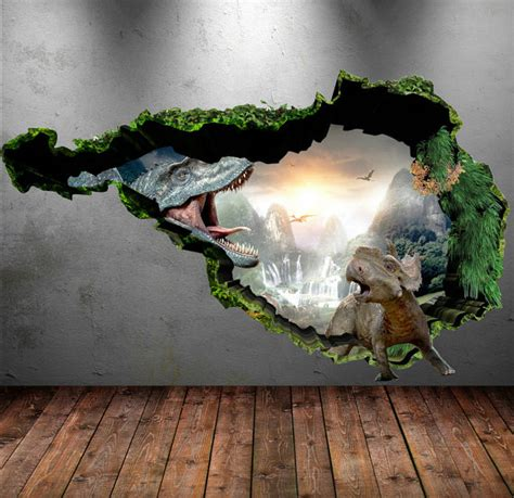 dinosaur stickers for walls dinosaur wall decal wall stickers colour 3d dinosaur