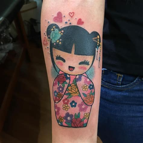 pin up doll tattoos goldenpluto piercings tattoos kokeshi