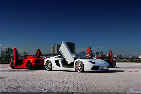 Lamborghini Doors Open Up Aventador Rolling On Polished Hyper Forged Wheels