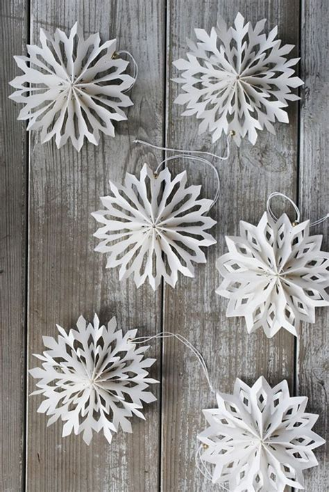 diy decorations paper snowflakes diy snowflake stelle