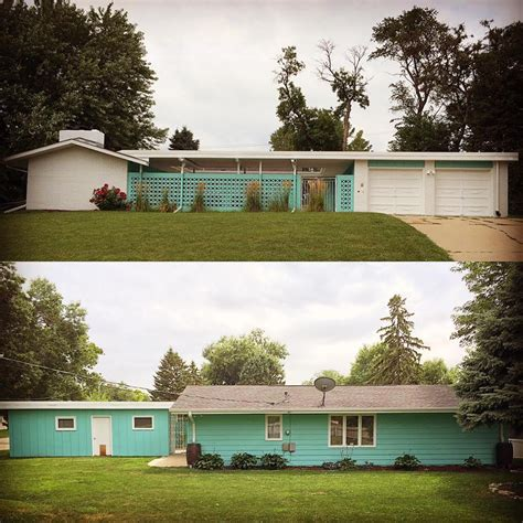 retro home alesha restores the original 1961 exterior paint colors on