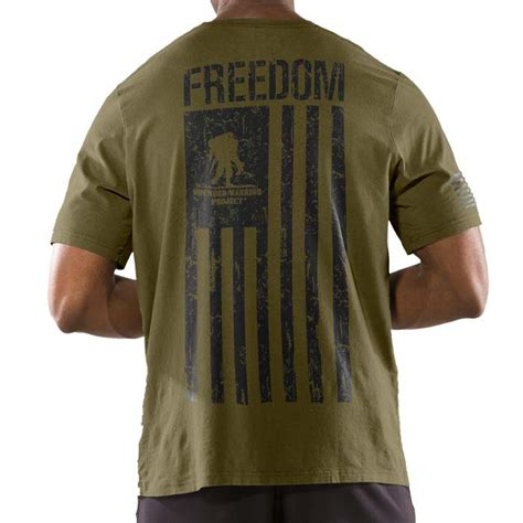 T Shirt Armour Foil armour wounded warrior project freedom flag s t shirt