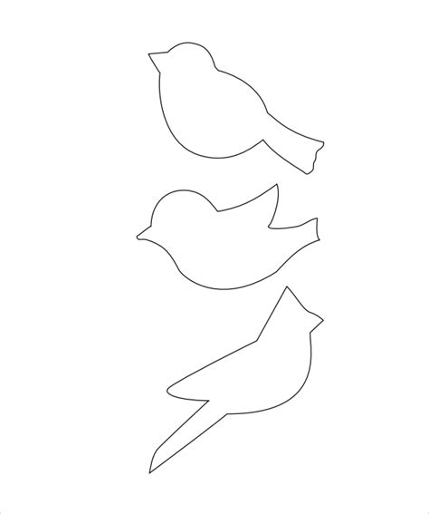 bird templates to cut out 15 sle bird templates to for free sle