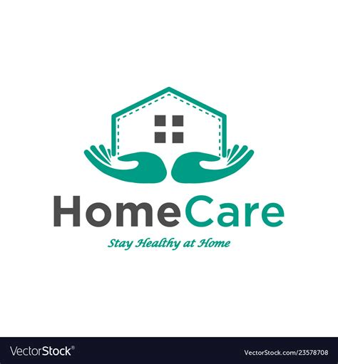 home care logo design inspiration royalty  vector image