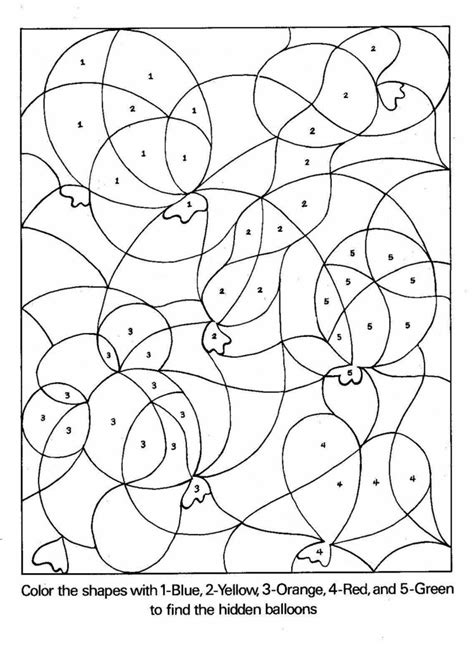 free color by number pages for preschoolers color by
