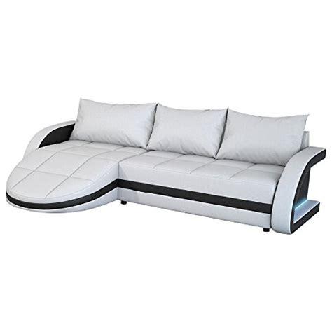 ottomane recamiere leder eck sofa wei 223 schwarz in leder optik edle designer