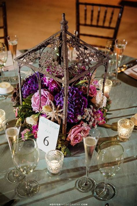 purple and white centerpieces for weddings best 25 birdcage centerpiece wedding ideas only on