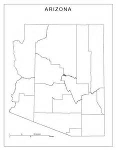 arizona outline map arizona blank map