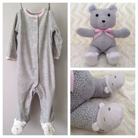 pattern for baby clothes teddy bear keepsake bear memory bear teddy bear made from baby onesie