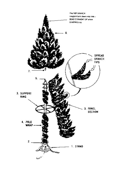 sears white flocked mt king christmas tree parts model