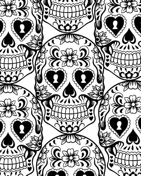 coloring books for grown ups dia de los muertos dia de los muertos sugar skull coloring page free