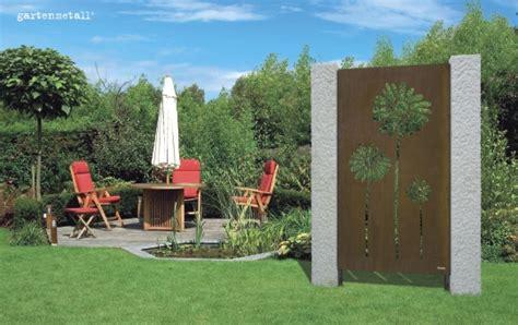 Garten Deko Metall Sichtschutz by Sichtschutz