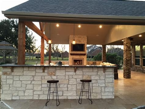 Patio And Outdoor by Houston Outdoor Kitchens Covered Patios