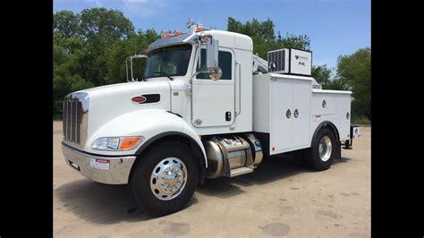 2015 peterbilt 337 x cab service truck caseco bed stellar crane