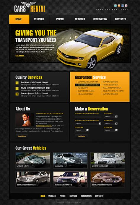 car rent html template id 300111180