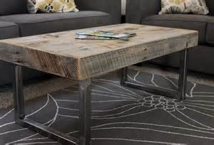 reclaimed wood and metal coffee table reclaimed wood coffee table