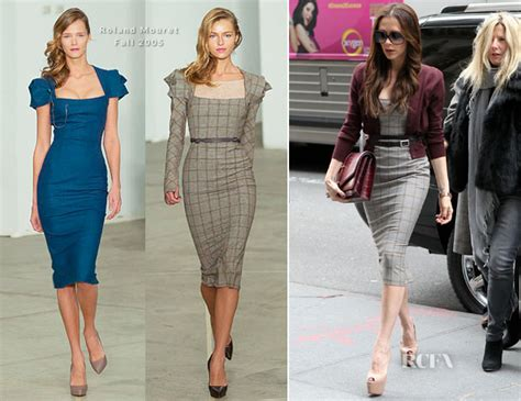 Who Wore Rm By Roland Mouret Better Beckham Or Osbourne by Sidewalk Style Beckham In Roland Mouret