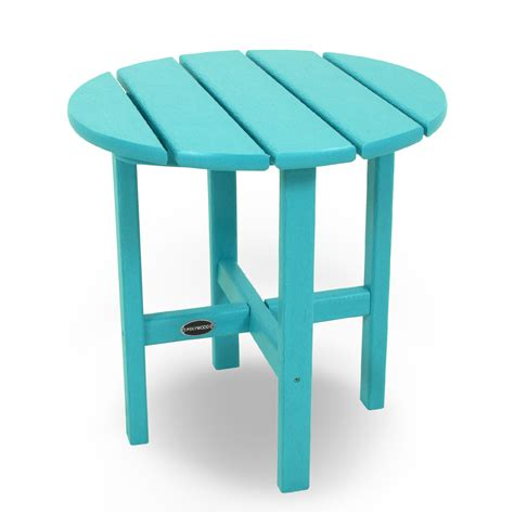 plastic patio side table polywood 174 recycled plastic side table vibrant