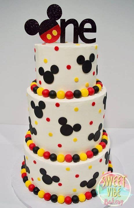 mickey mouse cake ideas  pinterest mickey