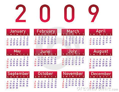Calendario Febrero 2009 Calendar For 2009 Royalty Free Stock Image Image 6444816