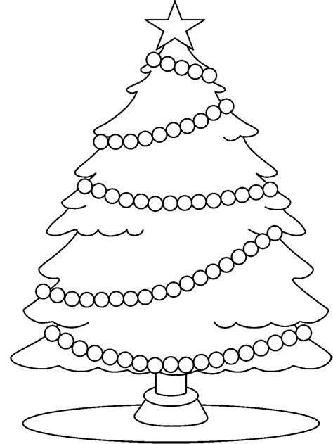 clipart natale da colorare tree clipart black and white clipartion