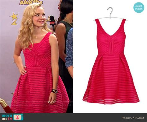 Camerons Kinda Sorta Dress by Wornontv Liv S Mesh Striped Dress On Liv And Maddie