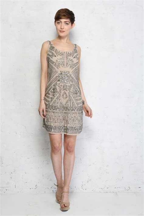 beaded flapper dress aztec beaded flapper dress flapper dress