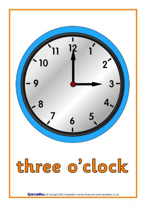 oclock time posters sb sparklebox